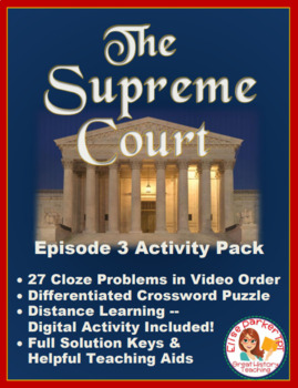 PBS The Supreme Court Episode 3 Worksheet and Puzzle Activity Pack