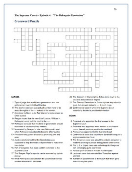 PBS The Supreme Court Episode 4 Worksheet and Puzzle Activity Pack