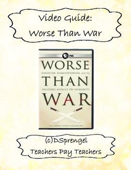 PBS Worse Than War (2009) Movie Video Guide Daniel Goldhagen (genocide)