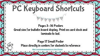 PC Keyboard Shortcuts