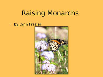 The Monarch Butterfly Life Cycle Slide Show-PC