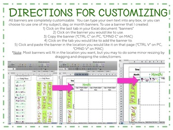 PC- The Interactive Planner (simple, customizable daily and weekly plan pages)