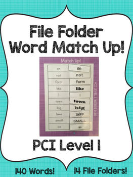 PCI Level 1 File Folder Word Match Up