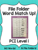 PCI Level 1 File Folder Word Match Up