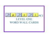 PCI Level 1 Word Wall Cards with LAMP sequences - WFL - AAC Device