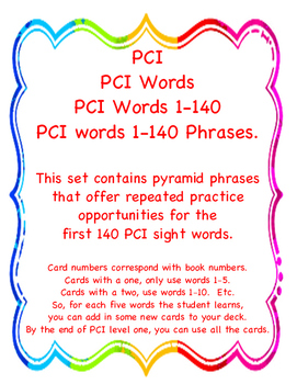 PCI Phrase Pyramid Flashcards Level 1