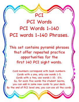PCI Phrase Pyramid Flashcards Level 1