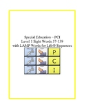 PCI Level 1 Vocabulary Words 57-139 with Lamp WFL Sequences