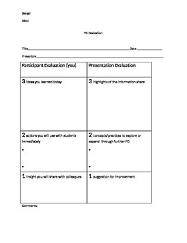 PD Evaluation Rubric