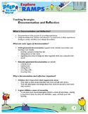 PD Handout: Using Documentation for Reflection in Ramps Unit