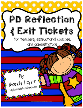 PD Reflection and Exit Tickets