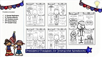 PDF American President Foldable Handouts for Interactive Notebooks