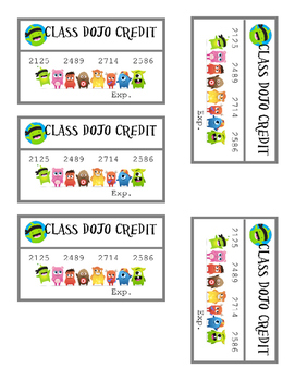 PDF Class Dojo Credit Cards