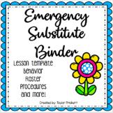 PDF Emergency Substitute Binder! (Parent Letter, Templates
