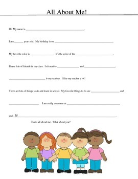 FREE! PDF Fill-in Worksheet