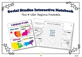 PDF Social Studies Interactive NB Four Regions of USA Foldable