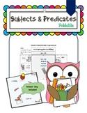 PDF Grammar Foldable - Subjects and Predicates (6 Large Windows)