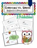 PDF Grammar Simple vs Compound Subjects and Predicates Venn Diagram Foldables