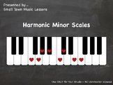 PDF = Harmonic Minor 1-Octave Scales (21x - some enharmoni