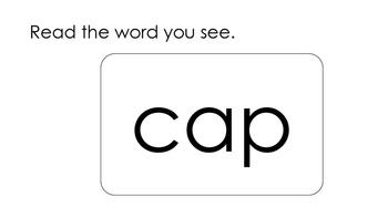 PDF Kindergarten Phonics Lesson: Short Vowel CVC Flashcards Set PDF