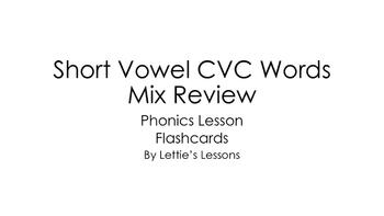 PDF Kindergarten Phonics Lesson: Short Vowel CVC Flashcard