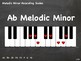 Piano Chalkboard - Melodic Minor Ascending 1-Octave Scales (PDF - 21 slides)