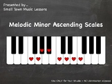 PDF = Melodic Minor Ascending Scales (21x - some enharmoni