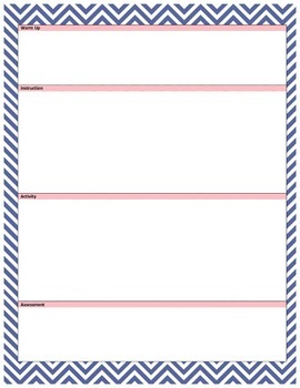 (PDF) NGSS Lesson Template - Navy/Pink Chevron