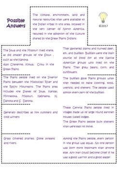 PDF Social Studies Interactive NB The Native Americans of the Plains Foldable