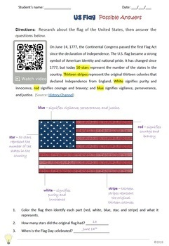 PDF Patriotic Symbols Printables for Interactive Notebooks and Fun Acitivies
