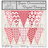 PDF Pennant Set - Valentine Pennant Set 1