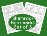 PDF Printable Shamrock Bookmarks St. Patrick's Day Coloring Activity