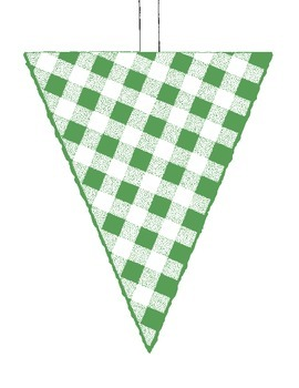 PDF Printable Watermelon Flags Banner Bunting Party Bulletin Board Decoration