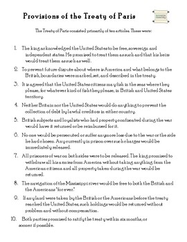 PDF - Provisions of the Treaty of Paris