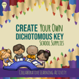 Creating a Dichotomous Key for School Supplies Group Activ