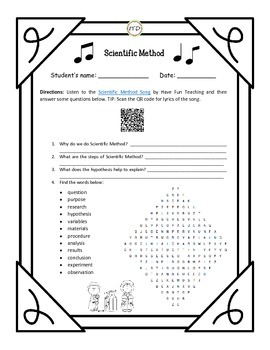 PDF Scientific Method Introductory Unit for Interactive Science Notebooks