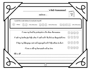 PDF Score Yourself Self-assessment Rubric Printable (Theme Basketball)