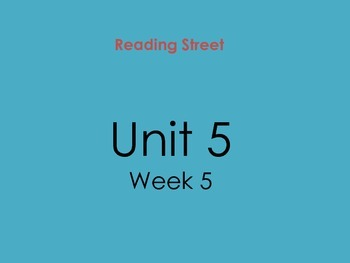PDF Version of Reading Street Unit 5 Week 5
