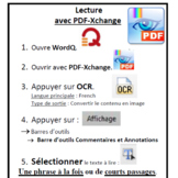 PDF-Xchange - Procédure avec WordQ ou Lexibar