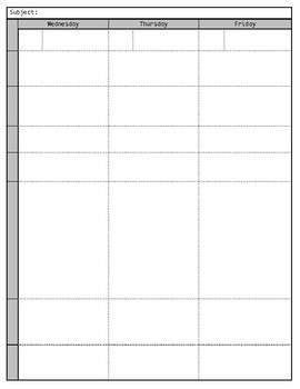 PDF (non-editable) Lesson Planner/Perpetual Calendar Pages