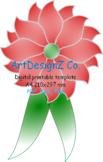 PDF, svg, Petal, Giant Paper Flower, Templates, 3d floral DIY Paper flower, Wedd