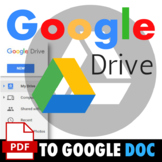 PDF to Google Doc Conversion Guide