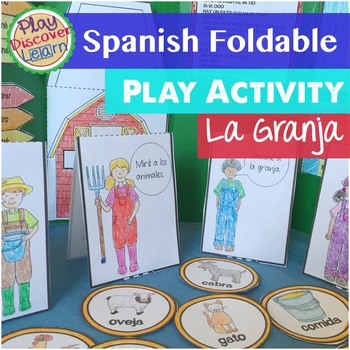 Spanish Interactive Notebook or Folder Activity La Granja