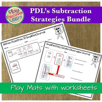 PDL's Special Ten Lock and Key Subtraction Strategy GROWING Bundle