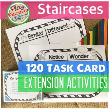 PDL's Staircase 120 Task Card Extension Activities for Cuisenaire Rods