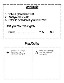PDSA Personalized Goal Setting Booklets