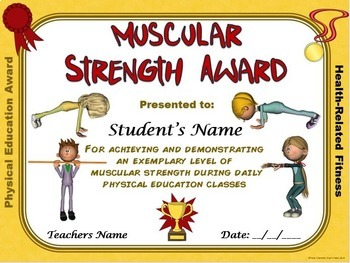 PE AWARDS- 13 Fitness Certificates