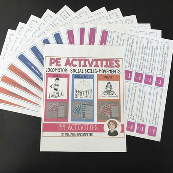PE Activities Set 3: Cones, Social Skills and Drama Activities