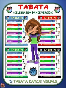 PE Activity: TABATA (Celebration Dance Version)- 15 Dance Visuals