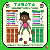 PE Activity: TABATA: 12 Visuals and Tickets- Great for Distance Learning